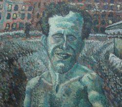 110-Self-portrait. 2006. Oil on canvas on wood, 67.3 x 107 cm.