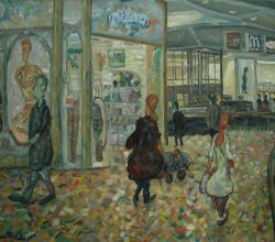 337-At Azraelle building. 2015. Oil on canvas, 71.8 x 85,6 cm.