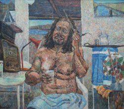 68-Self-portrait. 2002-04. Acrylic on canvas, 71 x 84 cm.